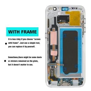 Image 4 - מקורי סופר AMOLED 5.1 LCD עם מסגרת לסמסונג גלקסי S7 תצוגת G930 G930F מגע מסך Digitizer עצרת