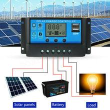 Авто солнечные контроллеры для дома 10A/20A/30A lcd MPPT солнечная панель регулятор заряда батареи двойной USB с 5 В/2 А