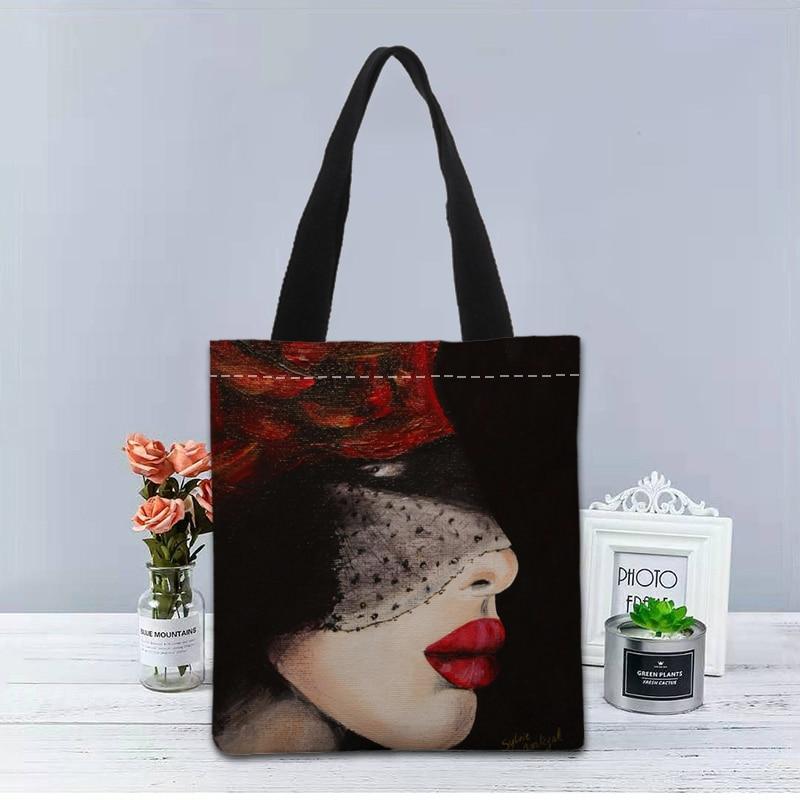 New Custom malika favre sephora printed Handbag canvas tote bags shopping travel Casual Useful Shoulder Bag women bag
