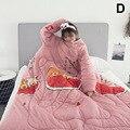 1 шт. «ленивое» одеяло с рукавами теплое плотное одеяло многофункциональное для дома зима ворс MU8669