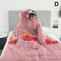 1 Pcs Faul Quilt Mit Sleeves Warme Verdicken Decke Multifunktions Für Home Winter Nickerchen MU8669-in Bettdecken & Duvets aus Heim und Garten bei