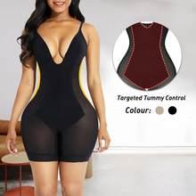 Corset secreto sem costura corpo shaper profundo v bodysuit mergulho bra baixa volta shapewear alças ajustáveis mulheres cintura trainer fajas