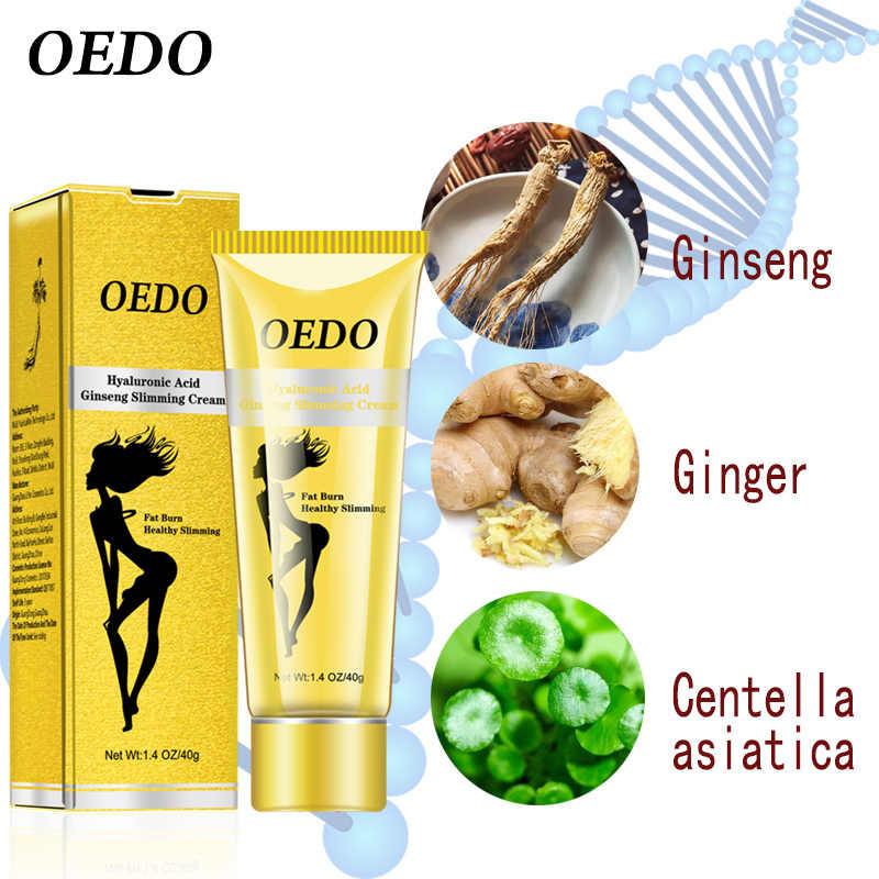O creme de emagrecimento do ginseng do ácido hialurónico de oedo reduz as celulites perde o peso que queima o creme gordo dos cuidados de saúde 40g