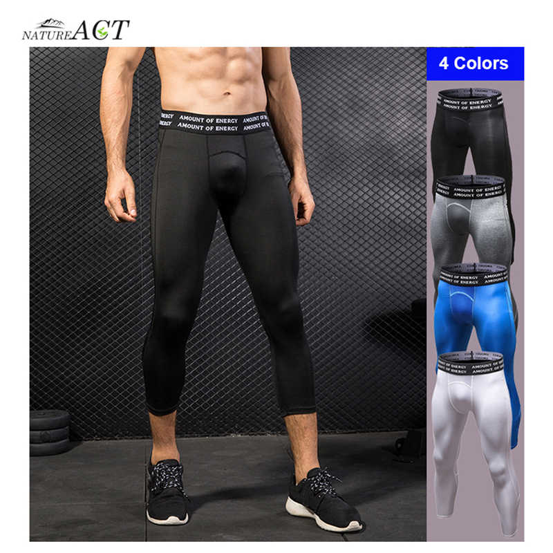 Mannen Pro Joggingbroek Gym Fitness Looptraining Leggings Ademend Hoge Elastische Compressie Sneldrogende Stretch Strakke 7 /Broek