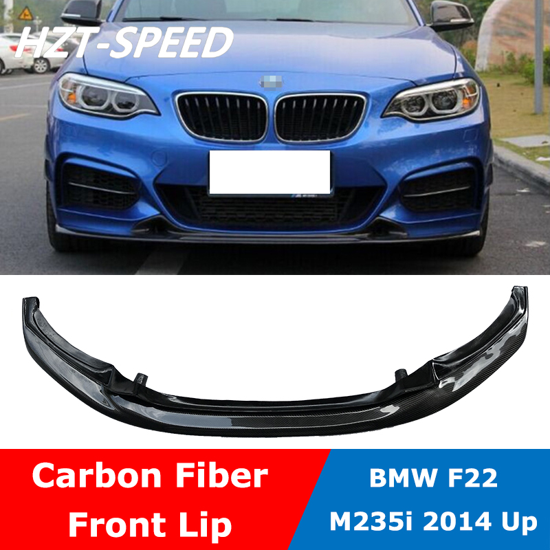 Real Carbon Fiber Front Lip Spoiler For BMW F22 2Series M-Sport Bumper 14UP b400
