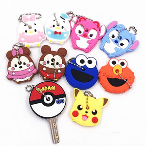 Hot Sale! 1 PCS Cute Creative Silicone Protective Key Case Cover for Key Control Dust Cover Holder Mini New Fashion Keyring Cap