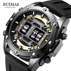 Original Design Roller Digital MEGIR Watches Mens Luxury Top Brand Quartz Watch Men Leather Army Wristwatch Relogio Masculino553