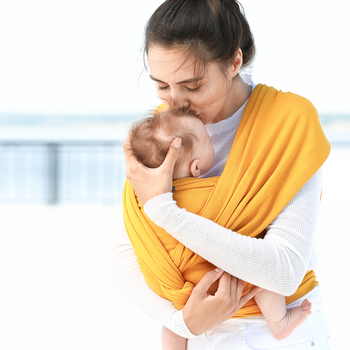 All-in-1 Stretchy Baby Wraps Baby Sling Infant Carrier Nursing Cover Hands Free Baby Wrap Postpartum Belt Great Baby Shower Gift 8