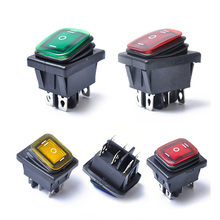 Car Boat Rocker Switch ON-OFF-ON LED 6 Pin Waterproof Plastic Rocker Switch Automobile Accessories #H(China)