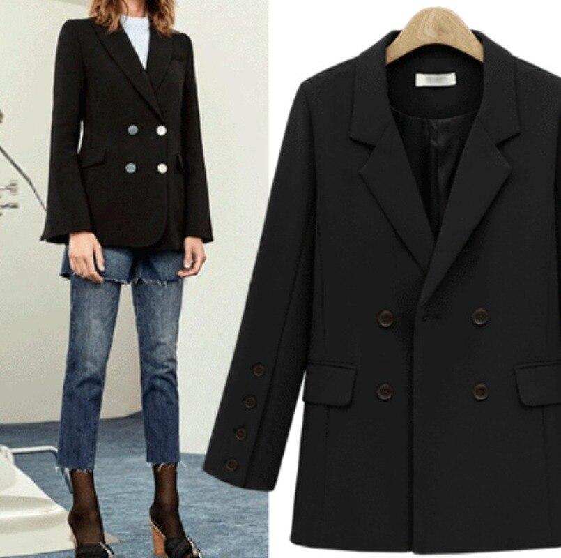 Women winter 2019 coats new wild woman's coat loose long section winter woman coat women's blazer
