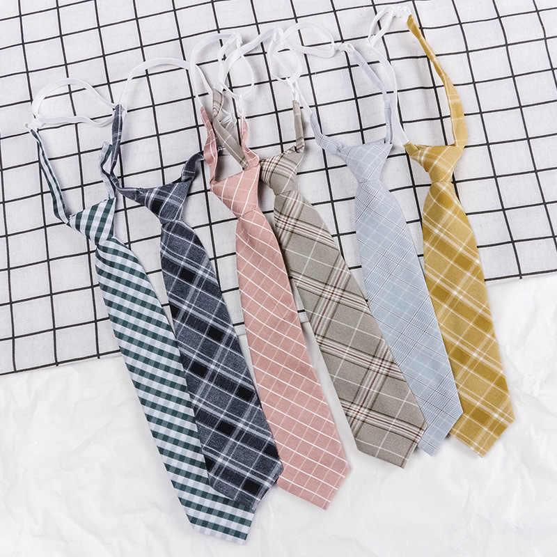 Corbata perezosa japonesa con cremallera 7cm de moda corbata para niño y niña para hombre delgado estrecho estudiante vestido de fiesta boda corbata presente