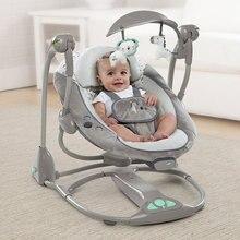 Многофункциональная музыкальная электрическая колыбель для сна для новорожденного ребенка, складная колыбель, кресло-качалка с удобной подушкой