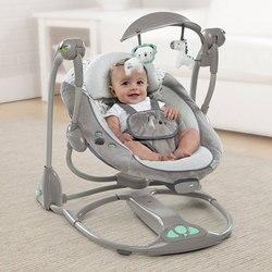الوليد الطفل متعددة الوظائف الموسيقى الكهربائية سوينغ النوم الراحة مهد طوي شاكر كرسي متأرجح مع وسادة الراحة