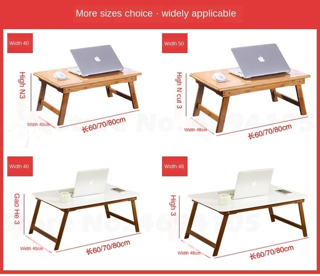 1B Laptop Desk Bed with Foldable Table Simple Dormitory Lazy Desk Study Table Primary School Desk