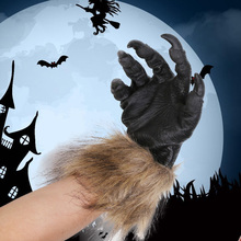 New Halloween Party Bar Decoration Scary Wolf Mask Realistic Horror Latex Costume Gloves Devil Cosplay
