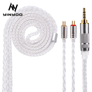Yinyoo 16 Core Silver Plated Cable 2.5/3.5/4.4mm Upgrade Cable With MMCX/2PIN/QDC for V90 ZS10PRO ZSNPRO BLON BL-03 BL-05 BL05(China)