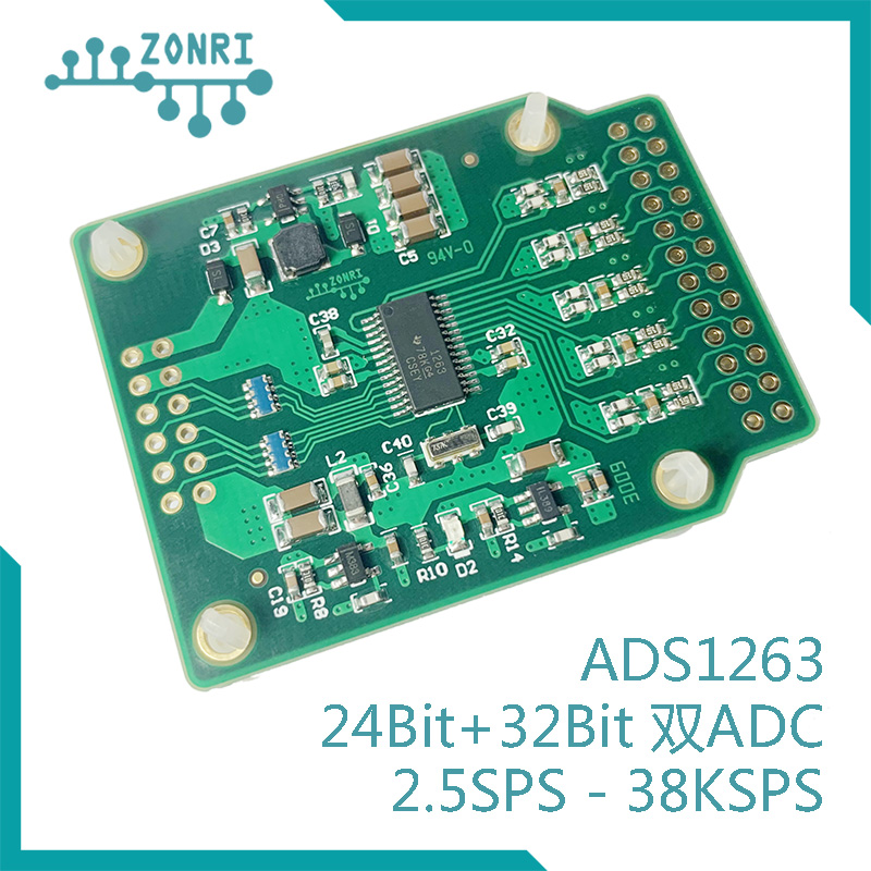 Ads1263 32bit High Precision ADC Module / 24bit + 32bit Dual ADC / AD Conversion 38.4ksps