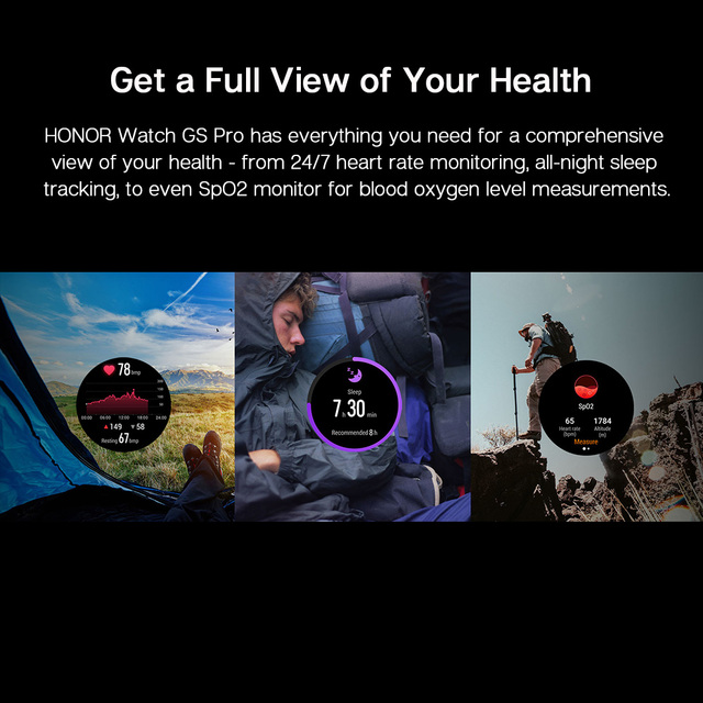 Global Version Honor Watch GS Pro Smart Watch SpO2 Smartwatch Heart Rate Monitoring Bluetooth Call  5ATM  Sports Watch for Men 4