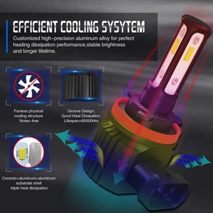 Image 5 - Mini H11 LED With 3570 CSP Car Lamps Anti Fog Lamp Bulb H4 H8 H7 Fog Light HB3 9005 HB4 9006 6000K Luces Led Para Auto 12V DC
