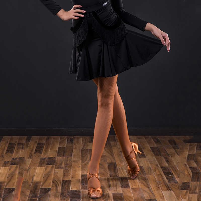 Женская юбка для латинских танцев профессиональная танцевальная с кисточками