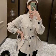 2020 Женская Весенняя куртка из натуральной овечьей кожи r33