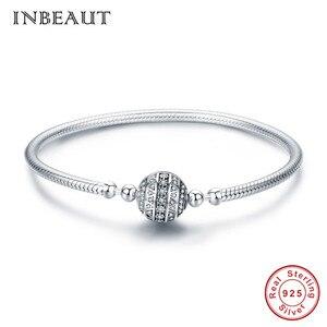 Image 4 - Оригинальный браслет, подходит для фирменного шарма из стерлингового серебра 925 пробы, CZ, луна, сердце, дерево, дьявол, глаз, змеиная цепочка, собака, Сова, бусины, банджи для женщин