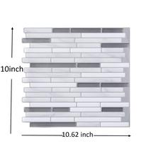 DIY 3D Peel and Stick Sticker WallPaper Tile Home Decor Mosaic Wall Tile 3D Bathroom Kitchen Backsplash Wall Tile Mosaic Sticker clear crystal glass backsplash carved flower resin tile kitchen bathroom shower home wall 3d sticker border diy wall tile lsrn10