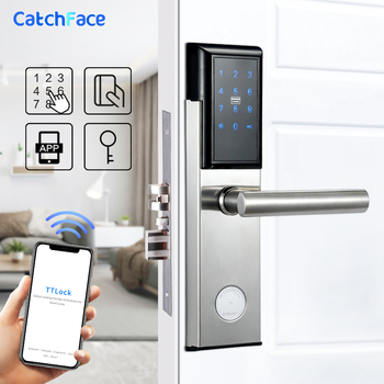 TTlock App Electronic Digital Door Lock Bluetooth Wifi Password Keypad Smart Lock Code Door Lock for Airbnb Apartment Gate Lock bluetooth electronic door lock with app wifi smart touch screen lock digital safe code keypad deadbolt for home hotel apartment