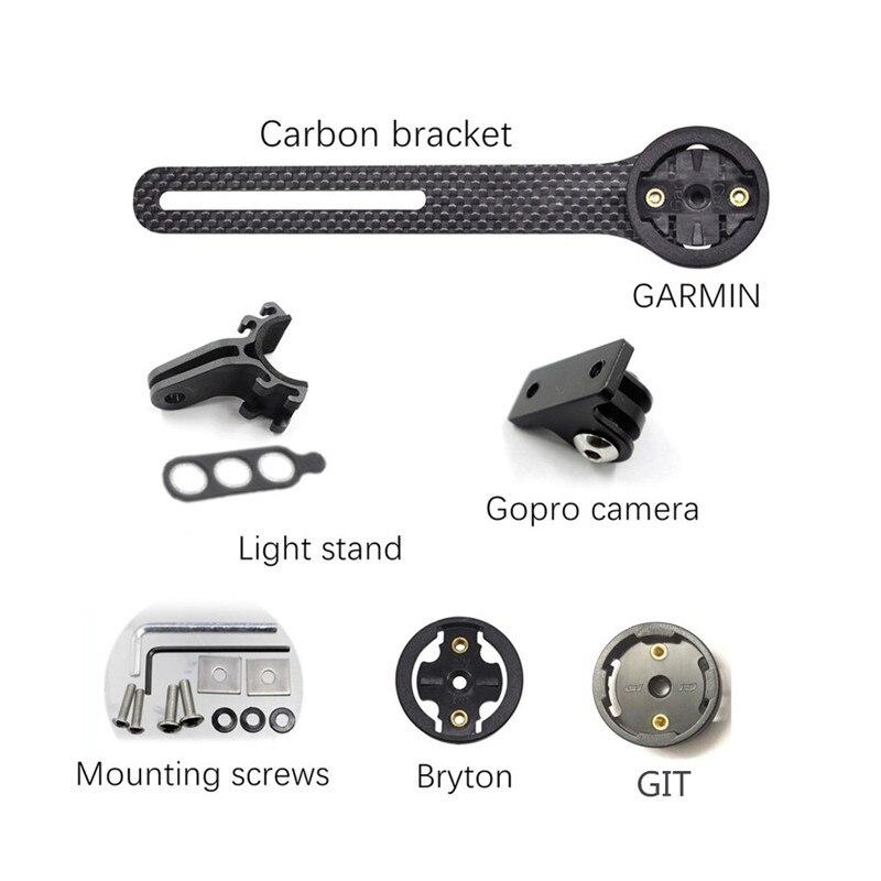 Полностью углеродное крепление для велосипеда, компьютера, велосипеда, шоссейного велосипеда, велосипеда, MTB велосипеда, компьютера, секунд...