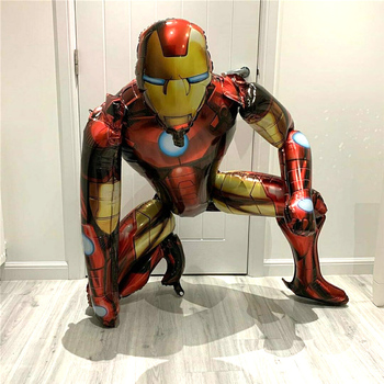 55 x 63CM 3D Spiderman Iron Man Hero Aluminum Foil Balloons Birthday Party Decoration Baby Shower Supplies Globos 12