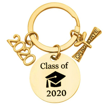 2020 Stainless Steel Graduation Gift Keychain Gift For Son Daughter Kids Congratulation Gift Keyring Key Chain Gift For Her Him