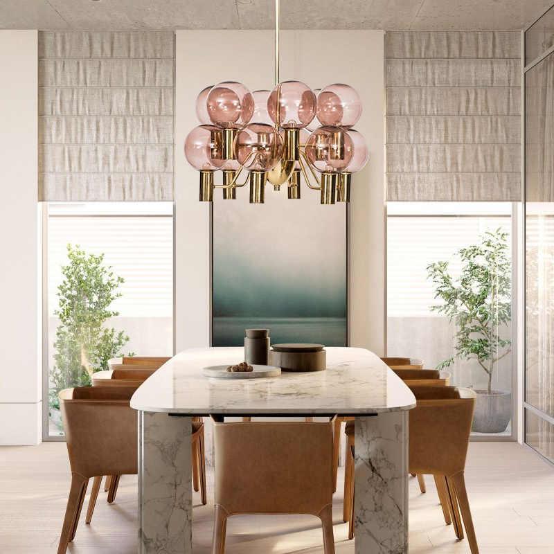 Postmodern Minimalis Kreatif Ruang Tamu Kaca Lampu Gantung Nordic Kreatif Restoran Kamar Tidur Belajar Seni Model Kamar Lampu Gantung