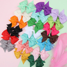 20Pcs/lot 3'' Solid Hair Bows for Girls Solid Color Boutique