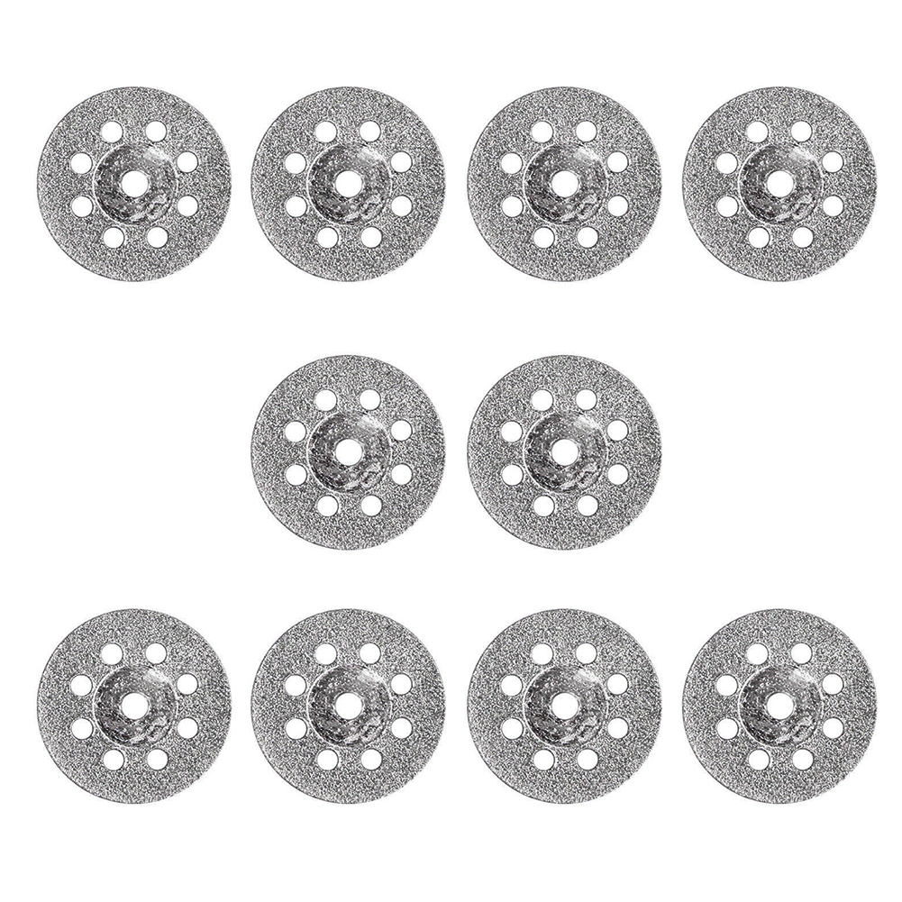 10pcs/set 22mm Drill Diamond Rotary Tool Mini Cutting Disc Saw Blades Connecting Wheel Shank