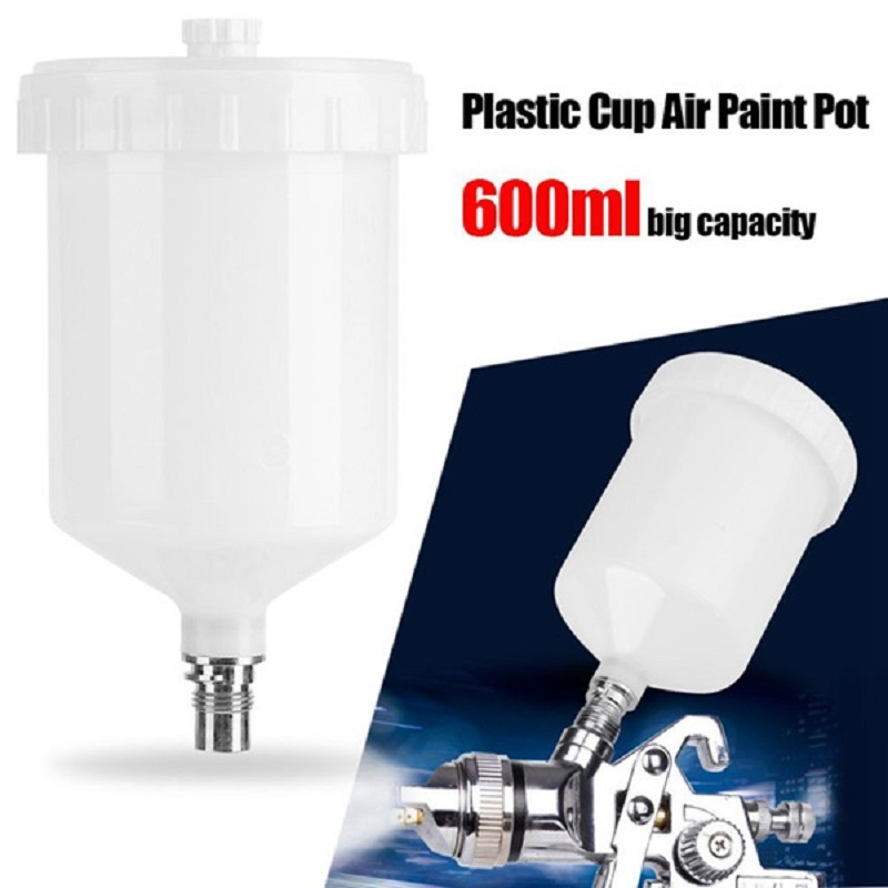 600Ml Plastic Hvlp Paint Cup Pot For Sata Sprayer Cup Connector Jet Paint Sprayer