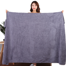 100x200cm microfiber bath towel, super soft, super absorbent and quick-drying, no fading, grey towel