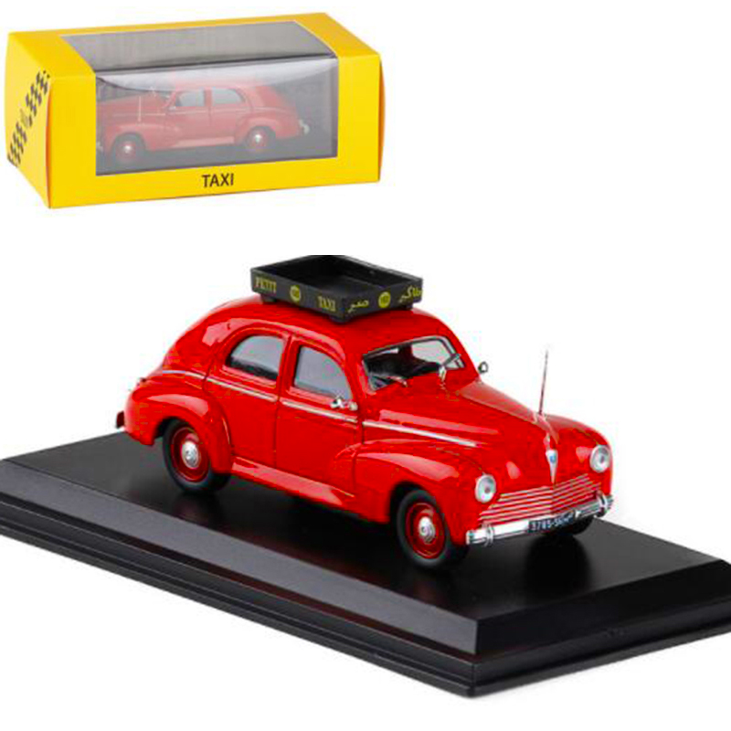 1:43 Scale 1960 Cab Taxi  Diecast Alloy Classic Peugeot 203 Casablanca Car Model Metal Traffic Tools Vehicles Toys F Collection