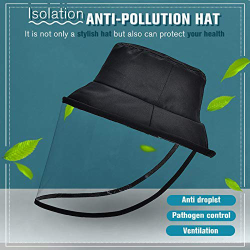 Epidemic Protection Hat Anti Saliva UV Hat with Face Shield Full Face Isolation Anti-Pollution for Fishing Boonie Camping Hiking 2