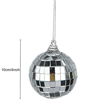 2 Pcs Mirror Disco Ball 4-Inch Silver Hanging Party Disco Ball Festivals Party Decorations цена 2017
