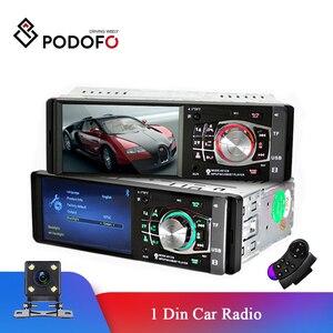 Podofo 1 Din Car radio Auto 4.