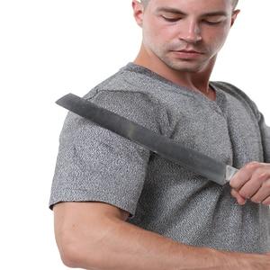 Image 4 - EN388 PE material level 4 cut proof wear slash resistant V T shirt anti cut shirt.