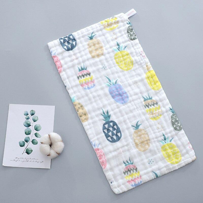Купить с кэшбэком 5pcs Baby towel 100% Cotton 25x50cm muslin towel 6 layers of gauze baby's face wash cloth towel