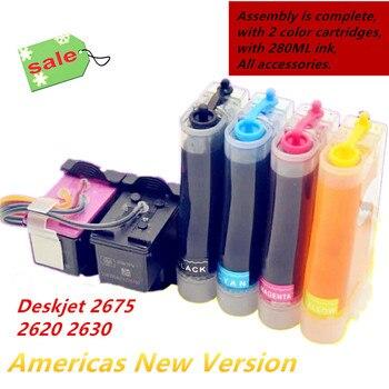 New version 664 Compatible CISS For HP DeskJet 2675 2620 Deskjet 1115 2135 3635 2138 3636 3638 4535 printer