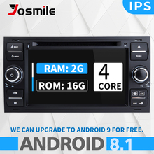 2 din Android 8.1 Car DVD Player For Ford Focus Mondeo 4 Fiesta C-Max S-Max FusionTransit Multimedia Radio GPS Navigation