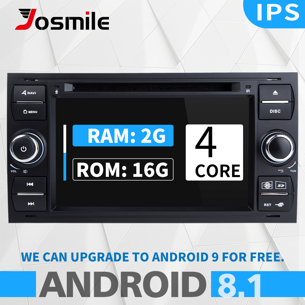 2 din Android 8.1 Car DVD Player <font><b>For</b></font> <font><b>Ford</b></font> <font><b>Focus</b></font> 2 Mondeo 4 <font><b>Ford</b></font> Fiesta C-Max S-Max FusionTransit Multimedia Radio <font><b>GPS</b></font> Navigation image