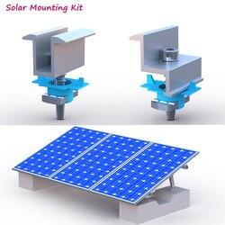 10 шт., Алюминиевый зажим для крепления на солнечной батарее, с винтами, Тип C U, стальные направляющие для установки солнечной энергии