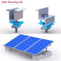 10 stücke Solar Montage Erdung Lug Aluminium clip mit schrauben auf C U typ stahl montieren schienen für Solar Montage energie System