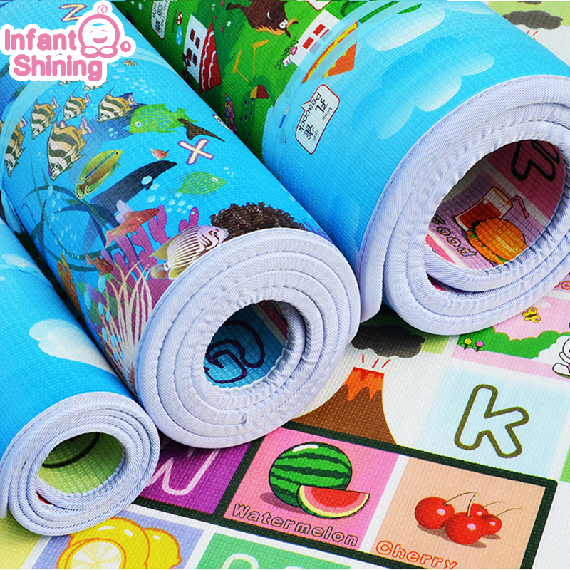 Infant Shining Children Crawling Puzzle Play Mat 200X180X2CM Baby Thickness Double faced Foam Mat Climb Pad