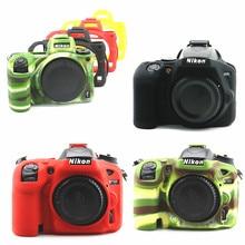 Silicone Armor Skin DSLR Camera Body Case bag cover for Nikon Z7 Z6 D780 D3500 D5300 D5500 D5600 D7100 D7200 D7500 D750 D3400