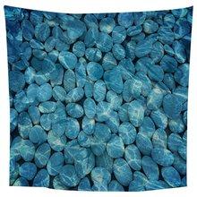 Underwater cobblestone Tapestry Digital Beach Print Wall Hang Blanket 1.5*1.5m Hanging  Decoration